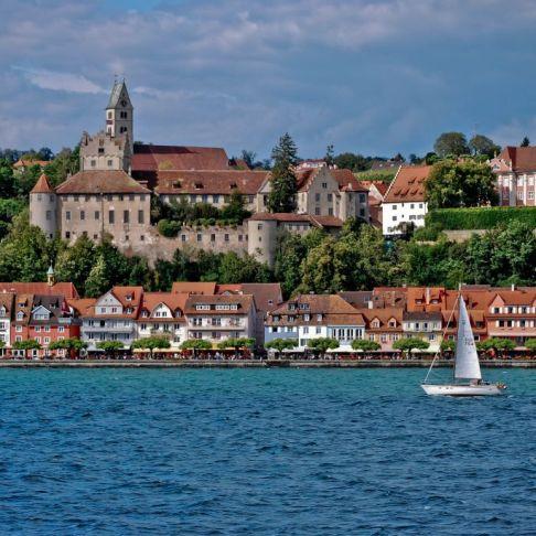 Meersburg, vazut de pe lacul Bodensee