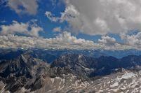 Alpii bavarezi, vazuti de pe Zugspitze