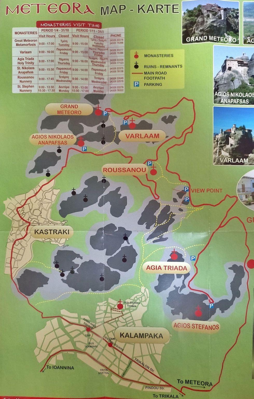 Sus Pe Varful Stancilor Aproape De Cer La Mănăstirile Meteorei 3